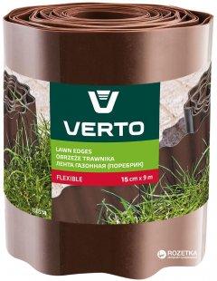 Газонный бордюр Verto 15x900 см Коричневый (15G514)