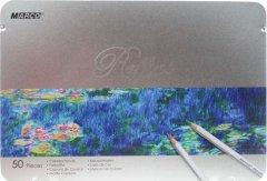 Карандаши цветные Marco Raffine 50 цветов в металлическом пенале (7100-50TN)
