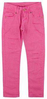Штани котонові для дівчинки KE YI QI M-02 134 см Насичений рожевий (129947)