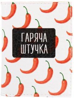 Женская обложка для ID-паспорта Passporty KRIVD-84 Белый/Черный/Красный (2900000133112)