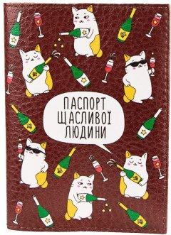 Женская обложка для паспорта Passporty KRIV251 Коричневый/Белый (2900000133181)