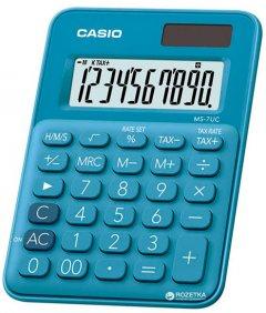Калькулятор Casio 10 разрядный 85.5х120х19.4 (MS-7UC-BU-S-EC)