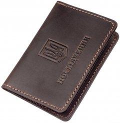 Обложка для паспорта кожаная Shvigel 13962 Коричневая