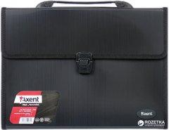 Портфель пластиковый Axent А4 3 отделения Черный (1601-01-A)