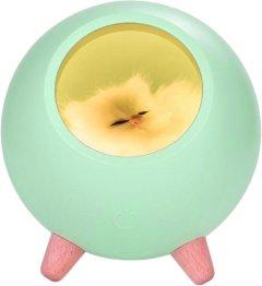 Ночник UFT Спящий кот в домике с сенсорной кнопкой Зеленый (UFTSCH01Green (4820176256324)