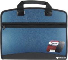 Портфель пластиковый Axent А4 4 отделения Синий металлик (1621-12-A)