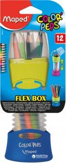 Набор карандашей Maped Color Peps Flex Box 12 цветов + раздвижной пенал Синий (MP.683212.Z.02)