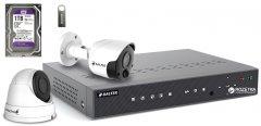 Комплект видеонаблюдения Balter Kit 5MP 1Dome 1Bullet 1ТБ