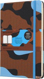Записная книга Moleskine Blend 13 х 21 см 240 страниц в линейку Синий камуфляж (8058341717356)