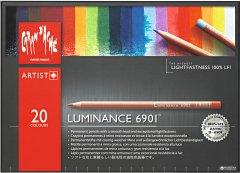 Карандаши цветные Caran d'Ache Luminance 6901 картонный бокс 20 цветов (7630002327626)