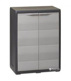 Пластиковый шкаф Toomax Elegance S 2 двери Черно-Серый (5663kmd)