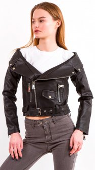Куртка из искусственной кожи Remix 8889 M Черная (2950006410380)
