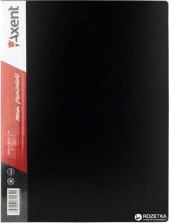 Папка пластиковая Axent А4 80 файлов Черная (1280-01-A)