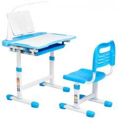 Комплект Cubby Парта и стул - трансформеры Vanda Blue + Настольная светодиодная лампа и подставка для книг