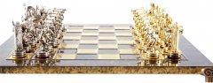 Шахматы Manopoulos Дискобол 54х54 см Коричневые (S17BRO)