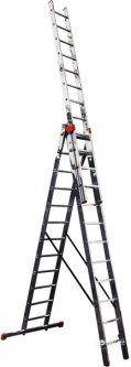 3-х секционная лестница Krause Monto Tribilo 3x10 ступеней (129765)