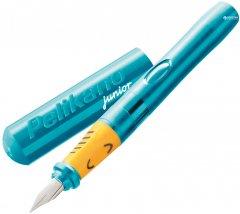 Ручка перьевая для левши Pelikan Junior Turquoise Бирюзовый корпус (924894)