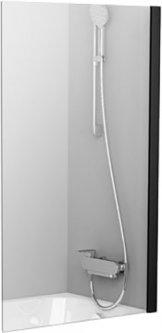 Шторка для ванны RAVAK PVS1-80 Black Transparent 79840300Z1