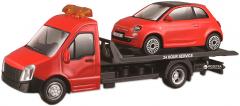 Игровой набор Bburago Автоперевозчик c автомоделью Fiat (18-31402) (4893993314027)