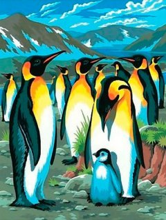 Набор для творчества Sequin Art Painting by numbers Junior Penguins 23x30 см (SA0033)
