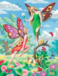 Набор для творчества Sequin Art Painting by numbers Junior Fairies 23x30 см (SA0126)