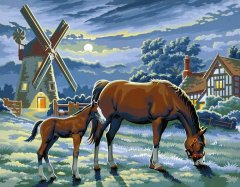 Набор для творчества Sequin Art Painting by numbers Senior Evening Pasture 38х29 см (SA0429)