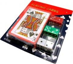 Карты игральные покерные с пластиковым покрытием Duke 54 листа 87х62 мм + игральные кубики 6 шт (DN19142)