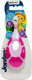 Детская зубная щетка Jordan Step1 0-2 года (7038513866304_розово-фиолетовая)