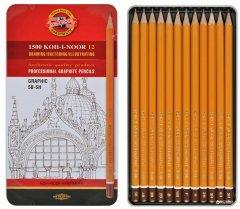 Набор карандашей чернографитных Koh-i-Noor Graphic 5В-5Н кедр 12 шт (1502.III)
