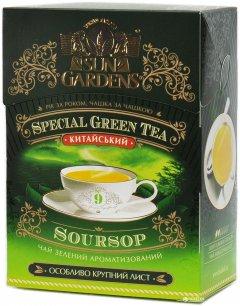Чай зеленый рассыпной Sun Gardens с саусепом Green SourSop 100 г (4820082702892)
