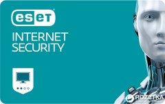 Антивирус ESET Internet Security (4 ПК) лицензия на 12 месяцев Базовая / на 20 месяцев Продление (электронный ключ в конверте)