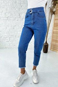 Крутые джинсы с завышенной линией талии Clew - джинс цвет, 36р (202007)