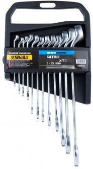 Набор ключей рожково-накидных Sigma глубокие 12 предметов 6- 22 мм CrV satine (6010241)