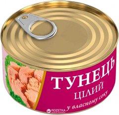 Тунец целый в собственном соку Fish Line 95 г (4820186140248)
