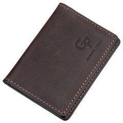 Кожаная обложка для автодокументов Grande Pelle leather-11186 Коричневая