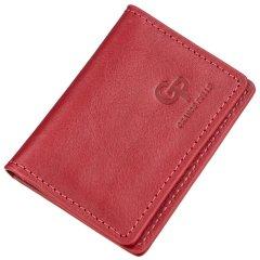 Кожаная обложка для автодокументов Grande Pelle leather-11188 Красная