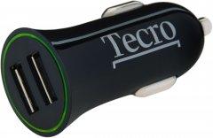 Автомобильное зарядное устройство Tecro TCR-0221AB Black