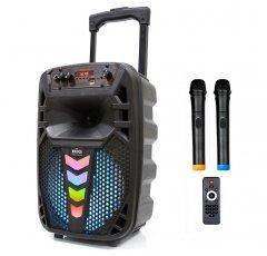 Автономна активна акустична система BIG 130TRANSFORMER два радіо мікрофона, караоке