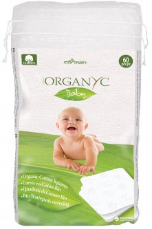 Детские ватные подушечки Corman Organyc Sweet Caress Baby Cotton Nursing Pads из органического хлопка 60 шт (8016867001267)