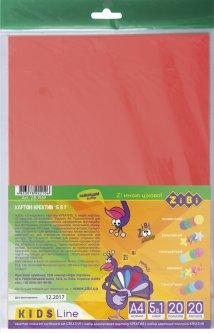 Набор цветного картона ZiBi А4 Креатив 20 листов (ZB.1969)