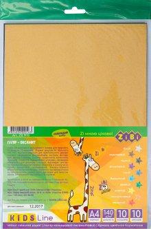 Набор цветной бумаги Zibi А4 Велюровый 10 листов 10 цветов (ZB.1913)