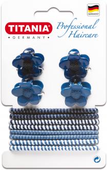 Набор зажимов и резинок для волос Titania 8003 (8003)