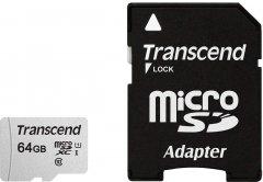Transcend 300S microSDXC 64GB UHS-I U1 + SD-Adapter (TS64GUSD300S-A)