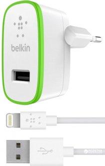 Сетевое зарядное устройство Belkin USB Home Charger + кабель Lightning 1.2 м Белый (F8J125vf04-WHT)