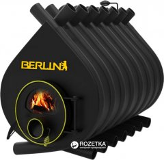 Печь калориферная для дома и дачи Berlin О5 Classic со стеклом (KK-00500KLS)