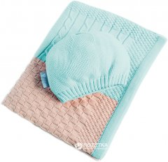 Плед + шапочка IDEIA Малыш Пэчворк 70x90 см Светло-зеленый (4820182657573)