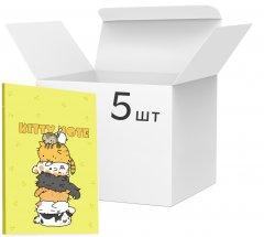 Упаковка блокнотов 4Profi Kitty note B6 в клетку 40 листов Yellow 5 шт (50636)