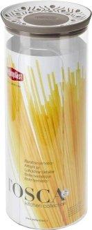 Емкость для хранения сыпучих продуктов Stefanplast Tosca 2.2 л Бело-коричневая (55500)