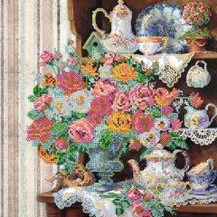 Схема для вышивки бисером Абрис Арт на натуральном художественном холсте Английский завтрак (AC-306)