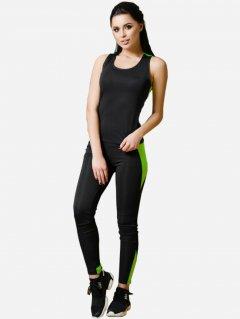 Спортивный костюм ISSA PLUS 1610 S Черный с салатовым (2000000047614)